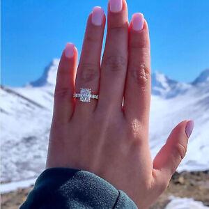 1.50 TCW Natural Radiant Cut U-Pave Set Diamond Engagement Ring - GIA Certified
