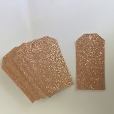 Rose GOLD Glitter GIFT Tags x 50  Size 60 x 120mm Glitter does not come off