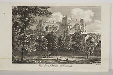 Petite vue Château d'ECOUEN par (Pierre-Louis) Baltard début XIX° Environs Paris