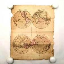 Antique Original Hand Colored Map - 1830 - World