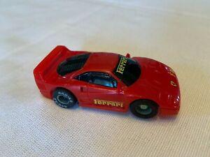 Tyco 440x2 Magnum Slot Car Ferrari F40 Red HO Scale Vintage 1980s