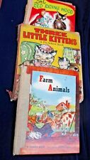 VINTAGE OLD CHILDREN'S BOOKS LOT OF 3 ALL RARE CONDITION POOR