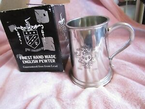 New Pewter Tankard - Made for Living Art London 1440 to 1990