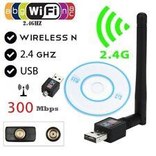 300Mbps Mini Wireless USB Wifi Adapter New W/Antenna 300n Network 802.11n/g/b