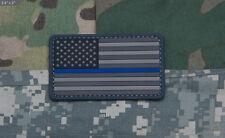 MSM Milspec Monkey PVC Morale Patch - USA US Flag Thin Blue Line Law LE - URBAN