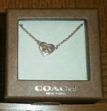 NEW COACH ROSEGOLD TURNLOCK NECKLACE F54487 GORGEOUS!
