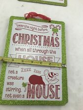 Glittery Night Before Christmas Sign wall hanging decor craft
