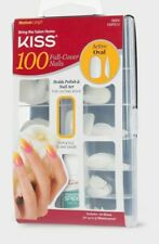 KISS ACTIVE OVAL 100 FULL COVER NAILS  MEDIUM LENGTH TIPS #16004 100PS13