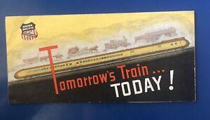 "Vintage Brochure ""Tomorrow's Train Today"" Union Pacific Railroad 1930s Ephemera"