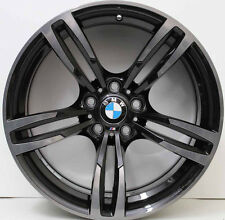 19 INCH GENUINE BMW M4 / M3 F80 2015 MODEL WIDEPACK FORGED BRUSHED BLACK WHEELS