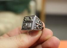 Jolly Rebels Sterling Silver F@CK YOU SKULL & Fleyr de lis RING sizes 8 to 10 US