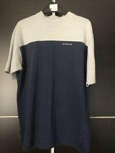 Vintage Airwalk tshirt size M navy blue cotton mesh skatboard VG cond 2002