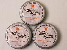 NEW Lot of 3 Wild Willies Tattoo Butter Premium Tattoo Balm Butter 2 oz. Organic
