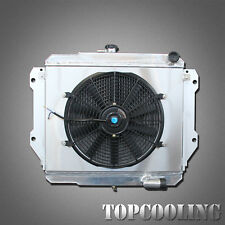 2 Row Aluminum Radiator + Fan Shroud For Daihatsu Rocky 2.8L Diesel MT 87-98