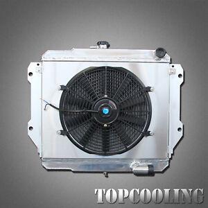 2 Row Aluminum Radiator + Fan Shroud For Daihatsu Rocky 2.8L Diesel MT 87-98