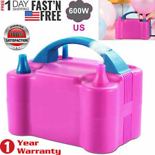 Electric Balloon Pump 600W Balloon Blower Inflator Dual Nozzle For Party Wedding