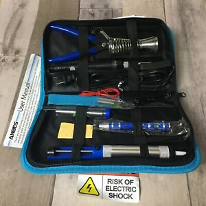 Anbes Soldering Iron Kit, Upgraded 60W Adjustable Temperature Welding Tool Black