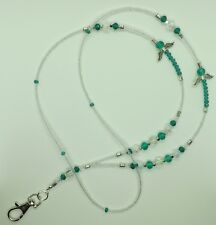 """Emerald ANGEL"" perles de verre ID Lanyard Badge Holder"
