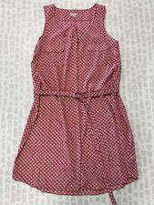 Gap Women Hot Pink Geometric Print Sleeveless Summer Slip Dress Size Extra Large