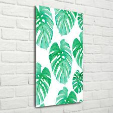 Wand-Bild Kunstdruck aus Acryl-Glas Hochformat 70x140 Fensterblatt