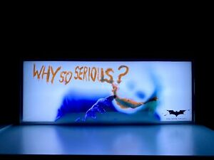 Hot Toys Joker Light Box Why So Serious Officially Licensed 16in DC NEW SALE