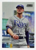 2020 Topps Stadium Club #62 AUSTIN MEADOWS Tampa Bay Rays PHOTO BASEBALL CARD