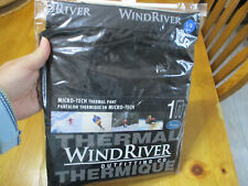 New Men's WindRiver Micro-Tech Thermal Pant,Sz Large 38-40,Soft & Lightweight