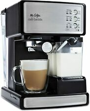 Mr. Coffee Café Barista Espresso and Cappuccino Maker - Black + Stainless Steel
