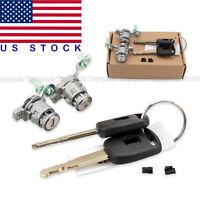 Door Lock Cylinder Set For Honda Civic CR-V Element Driver & Passenger Doors