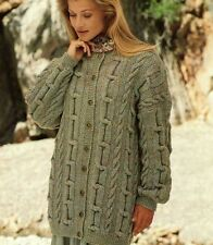 Knitting Pattern LADY'S DK Cavo Giacca/Cardigan Tg 8-18 BUST 76-102cm (68)