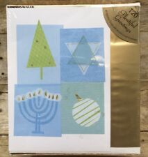 Plentiful Greetings 40 Wishing You Merry & Bright Holidays Cards & Foil Envelope