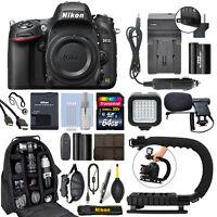Nikon D610 24.3 MP FX Digital SLR Camera Body + 64GB Pro Video Kit