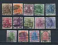 German Reich : Better Germania set from 1920 - used - High Value !
