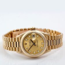 Rolex Ladies President - FACTORY Champagne Dial w/ Diamonds - 18K Gold - 69178