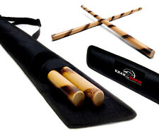 Escrima Sticks (Pair) W/Bag FMA Kali Arnis Rattan Eskrima Sticks