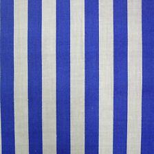 BLU medio Policotone Bianco a Righe PIRATA Tessuto per MTR