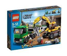 4203 EXCAVATOR TRANSPORT lego NEW legos set RETIRED construction SEALED