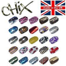 Salon Quality Professional NAIL WRAPS Foils Stickers Vinyl Print Beauty Tip UK 2