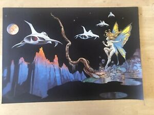 FRANK FRAZETTA Dream Flight FANTASY Litho PRINT 17 X 24 Vintage Prints #126