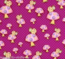 Whoo Me Pilze Pink Kinderstoff Patchworkstoffe Stoffe Baumwolle Patchwork Kinder