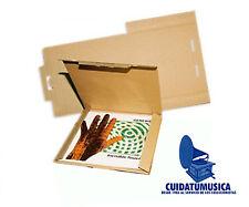 """100 CAJAS DE CART�""""N EMBALAJE PARA ENVIAR DE 1 A 3 DISCOS VINILO LP 12""""  -NUEVAS-"""
