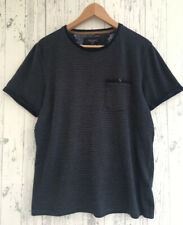 TED BAKER Men's T Shirt Navy Blue / White Spotted design US Size 4 ( UK Size L )