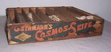 Werbe Holzschachtel Cosmos Seife mit Dochten für Petroleumlampen Dochte vor 1945