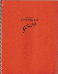 1958 San Francisco Giants 1st Baseball Strategy Manual for Seals Stadium