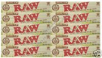 Raw Organic Kingsize Rolling Papers King Size Hemp Paper 10 Packs
