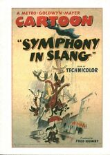 Livre BD Cartoon symphony in slang a metro - goldwyn - mayer Fred Quimby book