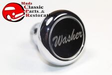 Custom Big Rig Truck Deluxe Chrome Washer Switch Dash Mount Knob Stainless Face