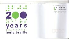 cover topical  Vision Australia blindness services Braille  FDC  medicine