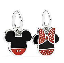 2pcs Silver Minnie Mickey European Charm Pendant Beads Fit Necklace Bracelet !!