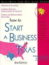 How to Start a Business in Texas ~ Forms and Instructions Included (Legal